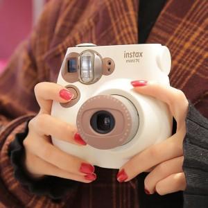 Fujifilm Instax Mini7c Instant Camera Film Cam Auto-focusing with Wrist Strap Birthday Christmas New Year Festival Gift for Boys Girls