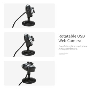 640P Webcam Live Streaming Webcam with Microphone 360 Degree Rotatable USB Web Camera for PC Laptop Desktop Webcam for Video Conference Meeting Gaming Desktop Office