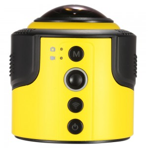 Detu 360 Degree Panorama Action Camera with Wifi 1080P 30FPS 8MP Fisheye Film Source for VR