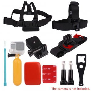 Andoer 8in1 Chest Strap Head Strap Floating Grip Floaty Buoy 360°Rotating Wrist Strap 360° Rotary Backpack Hat Clip Plastic Wrench Tool Long Screw for GoPro Hero 4/3+/3/2/1 SJCAM SJ4000 SJ5000 Action Cameras