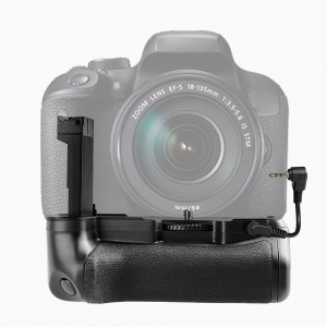 Vertical Battery Grip Holder for Canon EOS 800D/ Rebel T7i/ 77D DSLR Camera Work with One or Two LP-E 17 Battery