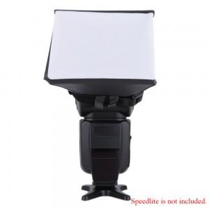 Portable Photography Flash Diffuser Mini Softbox Kit for Canon EOS Nikon Olympus Pentax Sony Sigma DSLR Speedlite Flash
