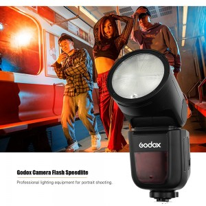 Godox V1C Professional Camera Flash Speedlite Speedlight Round Head Wireless 2.4G for Canon EOS Series 1500D 3000D 5D Mark lll 5D Mark ll for Wedding Portrait Studio Photography