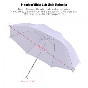 Photo Studio Lighting Kit Set 2Pcs 2 Meters 6.6Ft Light Stand + 2Pcs 33 Inch White Soft Light Umbrella + 2Pcs 45W Light Bulb +2Pcs Swivel Light Socket
