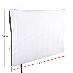 Photography Soft Box 50 * 70cm / 20 * 27in with E27 Flash Bulb Swivel Holder Socket US Plug