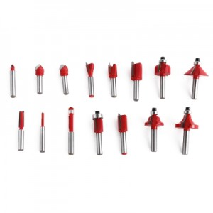 15pcs Router Bit Milling Cutter Woodworking Tools for Electric Hand Trimmer