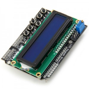 LCD1602 Character LCD Keypad Shield
