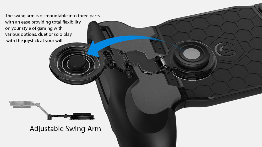 GameSir F1 Stretchable Grip with Bracket Stick on Joystick for Smartphone